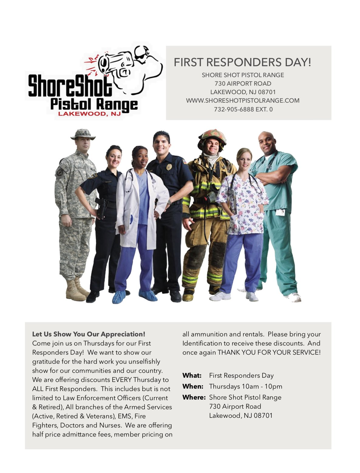 First Responders Day Every Thursday!