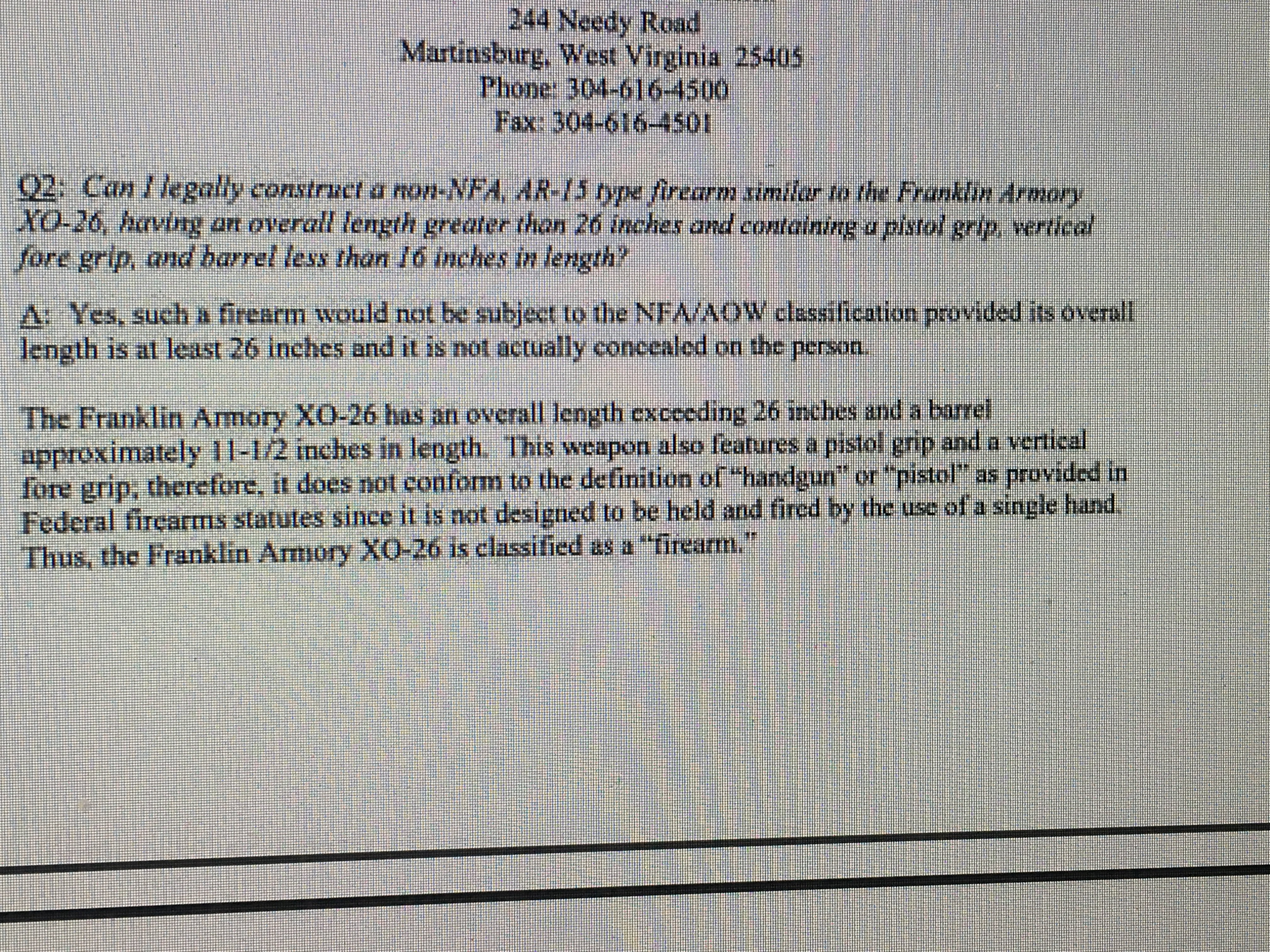 Legal Status of Non-NFA Firearm AR Build? - Page 5 - Other